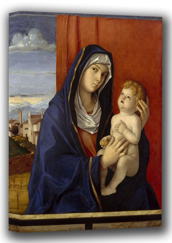 Bellini, Giovanni: Madonna and Child. Fine Art Canvas. Sizes: A4/A3/A2/A1 (001869)